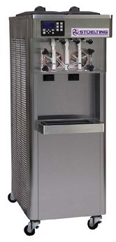 Stoelting F231 Medium Capacity Twin Twist Gravity Soft-Serve Ice Cream Or Frozen Yogurt Freezer